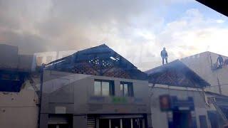 #x202b;اندلاع حريق في محلات تجارية  في نهج إيطاليا بالعاصمة#x202c;lrm;