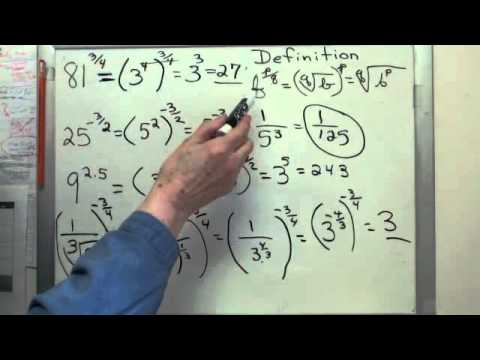 Using Fractional Exponents