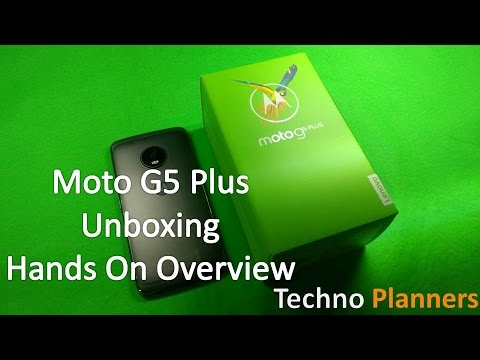 Moto G5 Plus Unboxing and Small Hands On Overview | 4GB RAM Lunar Grey