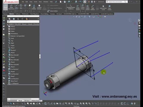 3D Sketch Plane Tutorial With Solidworks 2016