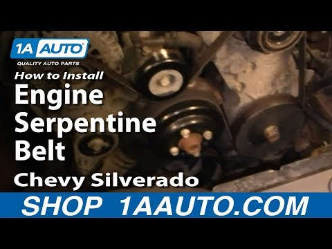 How To Install Replace Engine Serpentine Belt Chevy Silverado GMC Sierra 1500 4.3L 99-06 1AAuto.com