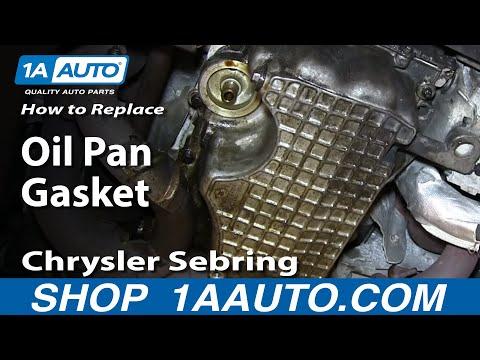 How To Install Replace Leaking Oil Pan Gasket 2.7L V6 Chrysler Sebring Dodge Stratus