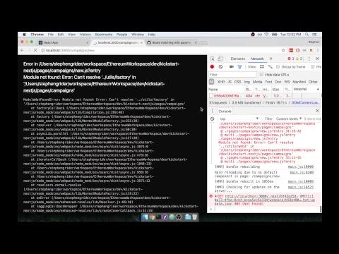 Building an Ethereum/React App