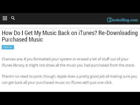 How-To Get My Itunes Music Back