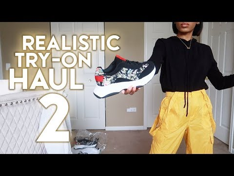 REALISTIC TRY ON HAUL 2.0 - Ugly Dad Sneakers & Church Skirts ▸ VICKYLOGAN