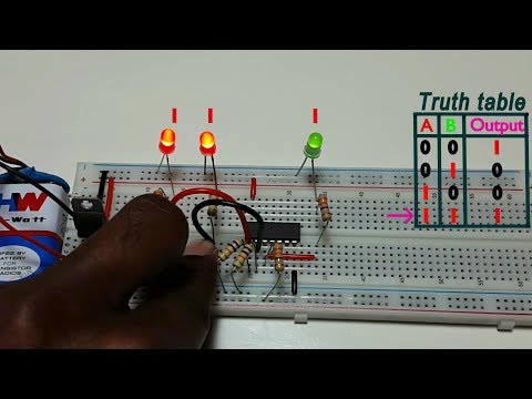 How to work XNOR logic gate , using 74HC266 ic, in Tamil & English,தமிழ் எலெக்ட்ரானிக்ஸ்