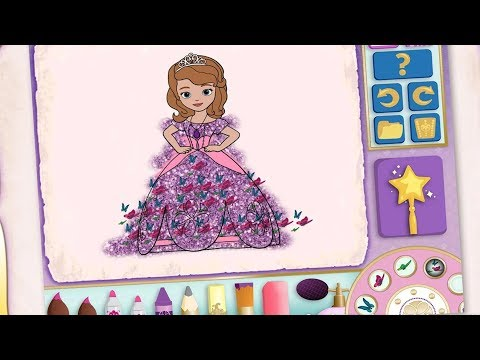 Sofia Princess Color And Play Club House Paint 3D Color Disney Junior Animated Coloring Book.