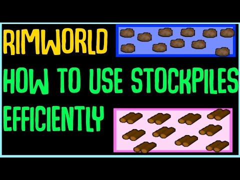 Rimworld Guide: How do stockpiles work, how to use them more efficiently