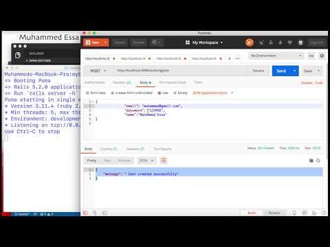 7  Ruby on Rails API JWT CRUD