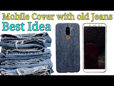 Best mobile cover Idea with Old Jeans | DIY Best out of waste craft Idea