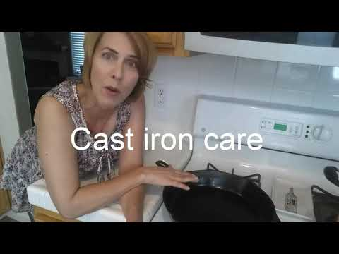 Easy care for your cast iron cookware
