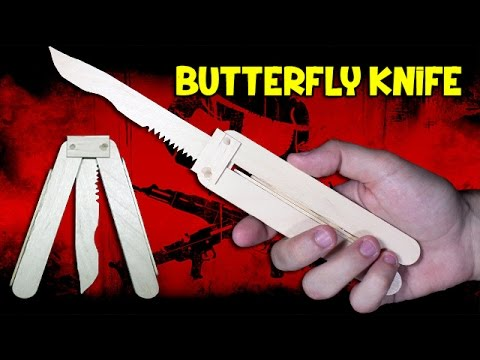 How to Make a Butterfly Knife | Wooden Knife
