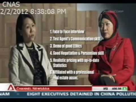 Channel News Asia SPEED Programme:  How to choose a good property agent with Roza Sure Bagus
