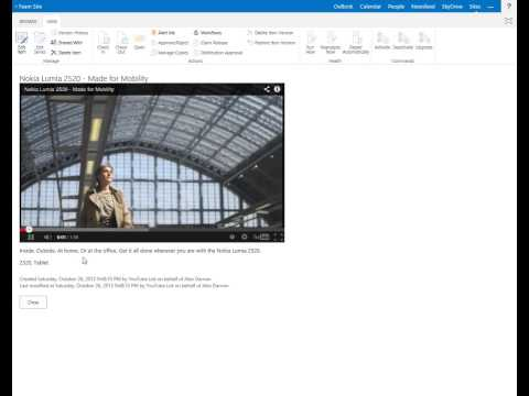 SharePoint YouTube List App   View and Edit Item