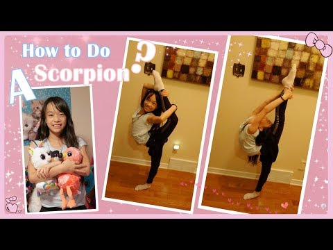 How to do a Scorpion (Cheerleading) / Back Balance (Gymnastics)? | RG Selena