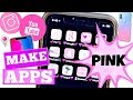 Hacks To Make Your Apps Look Cool NO JAILBREAK! | HOW TO MAKE YOUR APPS PINK & cHANGE SHAPES OF APPS