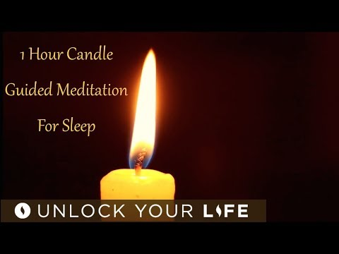 1 Hour Candle Meditation for Sleep |  Meditation to Release Anxiety, Stress, Intrusive Thoughts