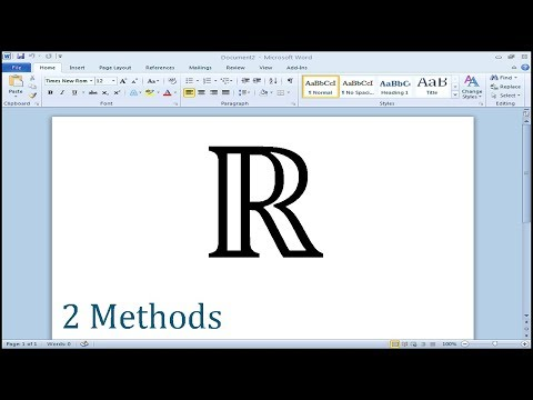 How to type set of real numbers symbol in Word