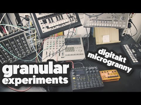 GRANULAR EXPERIMENTS on the Digitakt & Microgranny (getting creative with boring acid sounds)