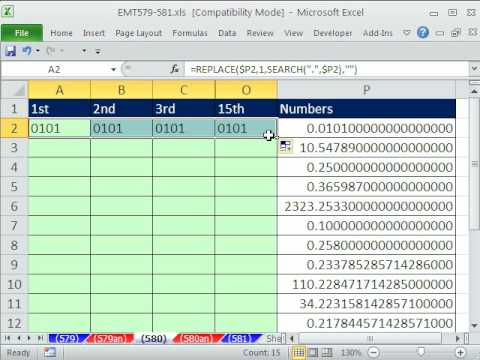 Excel Magic Trick 580: Extract Digits To Right Of Decimal Into Individual Cells