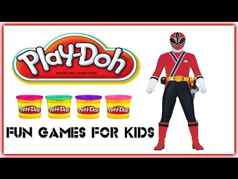 Red Power Ranger - Play Doh - How to Make Power Ranger Play Dough