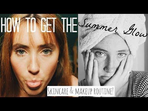 How to get the SUMMER GLOW: Skincare & Makeup Routine! | Kaela Kilfoil