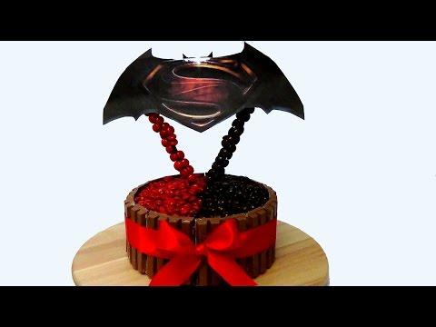 how to make batman v superman cake