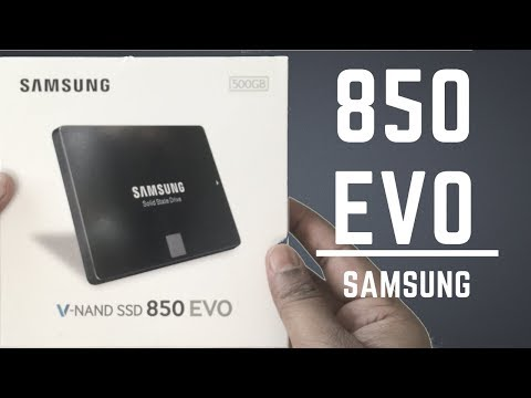 Samsung 850 EVO SSD unboxing & Review