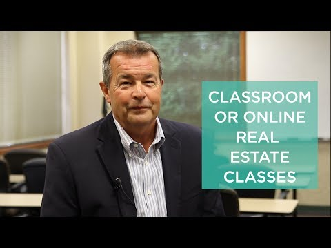 Online or Classroom Real Estate Classes - What's Best For You?
