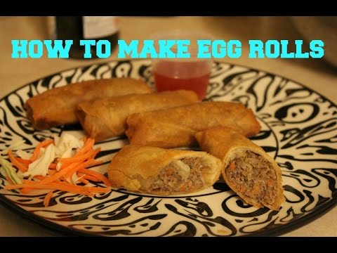 How to Make Delicious Beef Egg Rolls| Laos Inspired