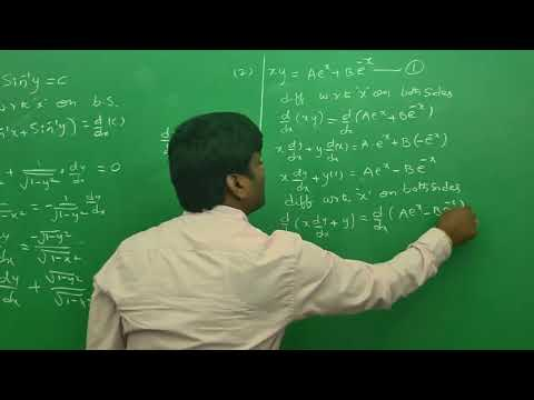 Formation of differential equation:  Engineering Mathematics Tips (AU ,JNTU ,GATE,Delhi University)