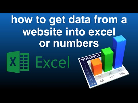 How to Get Data from a Website into Excel or Numbers Spreadsheet