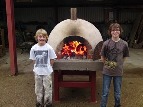 HOW TO BUILD,make,a homemade,wood fired,clay brick pizza oven