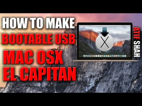 How to Make Bootable USB Mac OS X El Capitan 2016