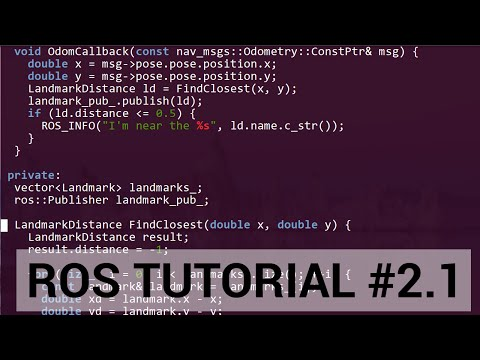 ROS tutorial #2.1: C++ walkthrough of publisher / subscriber lab