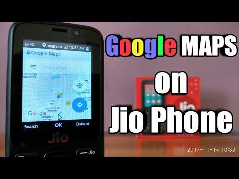 Jio phone : How to use Google maps and GPS navigation ✓