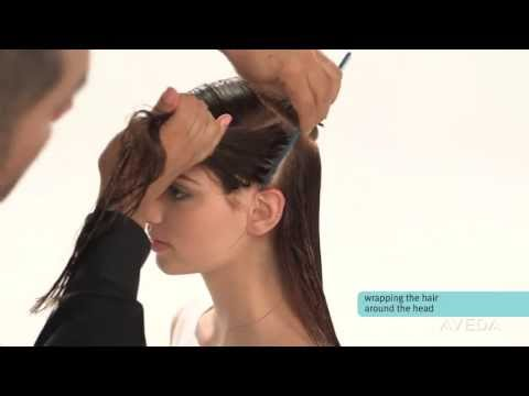 Aveda How-To | Smooth and Straighten Hair with a Wrap