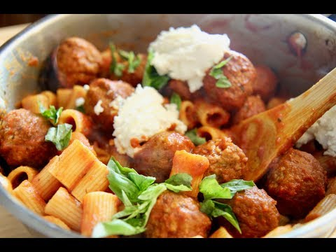 Rigatoni and Meatballs Casserole