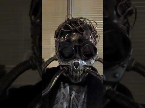 Steam punk helmet and gas mask!