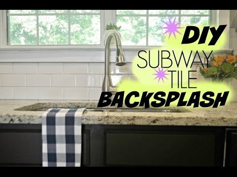 DIY Subway Tile Backsplash Tutorial