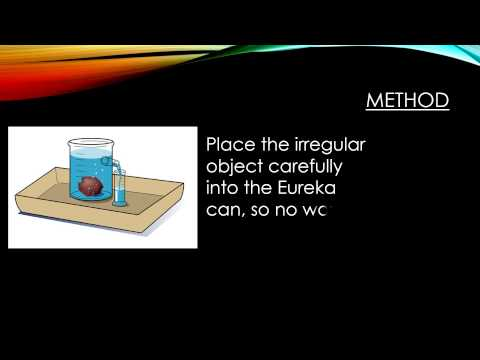 Finding the Density of Irregular Objects
