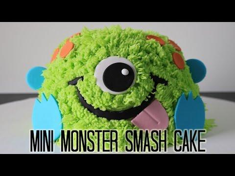Mini Monster Smash Cake!