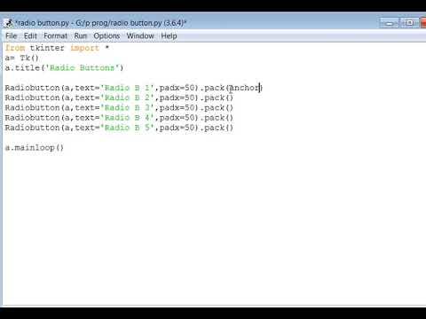 Creating a Basic Radio Button in Python