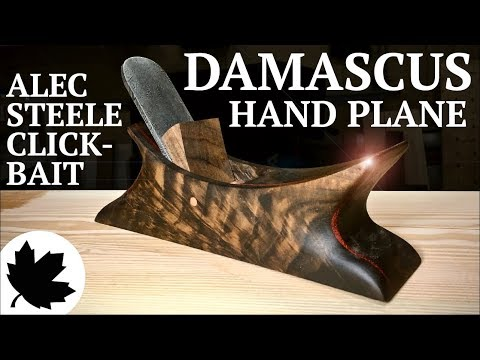 Damascus Steel Hand Plane ||| Alec Steele Collab