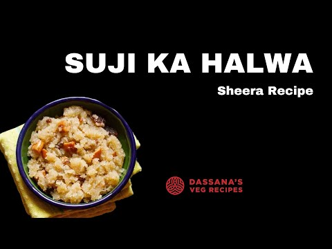 sooji halwa recipe - how to make sooji halwa recipe | rava sheera recipe