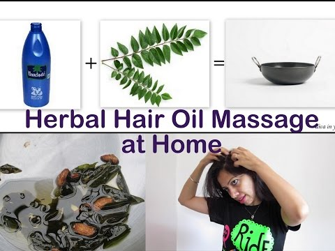 Hair Oil Massage at home with Coconut Herbal Oil