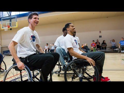 OKC Blue Learns Wheelchair Basketball