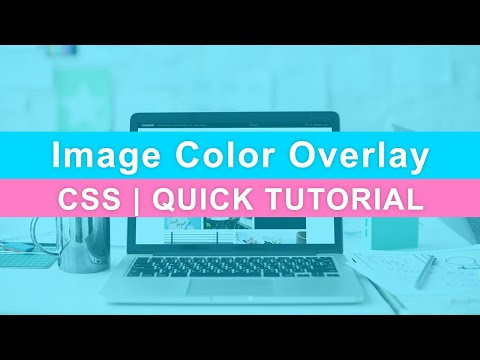 CSS Background Image Color Overlay | Color Filter Quick Tutorial