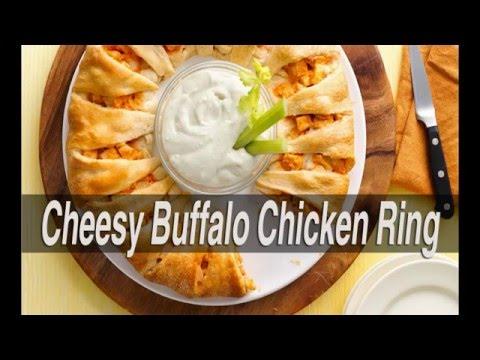 Cheesy Buffalo Chicken Ring Recipe