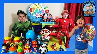 Download RYAN TOY'S REVIEW GETS RESCUED BY DEION'S PLAYTIME | PRETEND PLAY